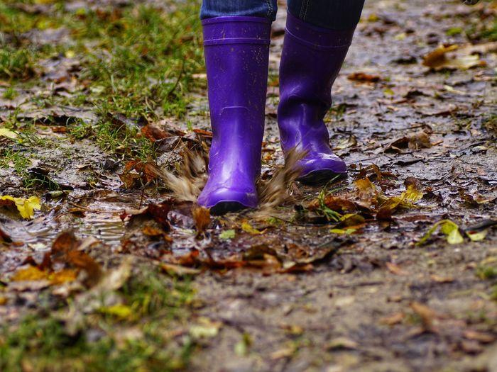 rainy days...🌂 Human Body Part RainyDay Mud Muddy Puddle Capture The Moment Rainboots Fine Art Photography Fine Art Fineart
