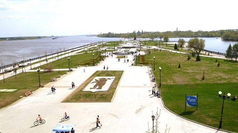 Volga River Landscape Yaroslavl стрелка