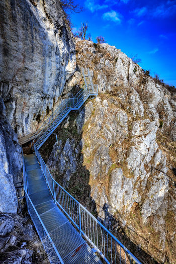Felsenpfad Architecture Blauer Himmel Bridge Bridge - Man Made Structure Connection Day Formation High Angle View Hohe Wand Mountain Nature No People Outdoors Railing Rock Rock - Object Rock Formation Sky Solid Transportation Wall Water