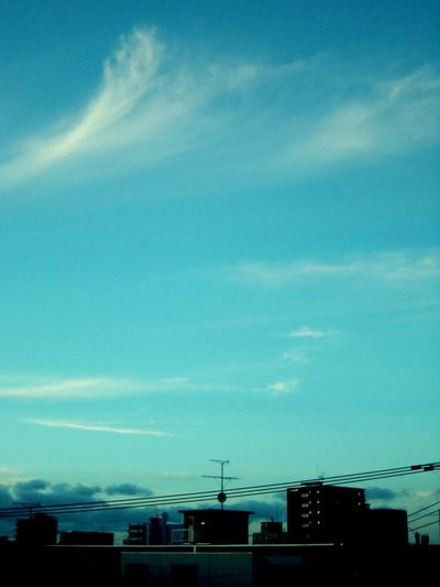 Calm Lines And Shapes Blue Sky City 青 街 静か 線