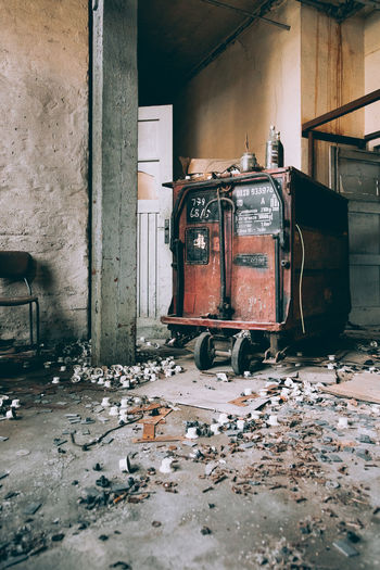 Abandoned Damaged Run-down Old Built Structure Architecture Obsolete No People Decline Deterioration Building Indoors  Weathered Technology House Wood - Material Day Messy Flooring Electricity