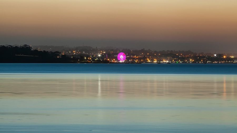 Geelong city from Stingaree bay Ferris Wheel Ferris Wheel At Night Geelong Australia Stingaree Bay Architecture Beauty In Nature Dusk In The City Geelong Idyllic Illuminated Lake Nature Night No People Outdoors Reflection Scenics - Nature Seascape Sky Tranquil Scene Tranquility Tree Water Waterfront Weekend Activities