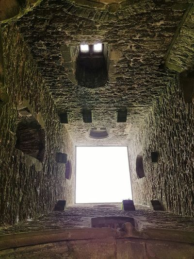 View Up The Tower From A Different Perspective Stonework Tor Glastonbury Tor Up Is Down