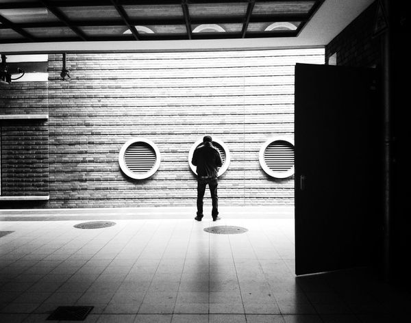 Waiting for the train to come 1/2 Notes From The Underground Streetphotography Streetphoto_bw Commuting Blackandwhite Black & White Fortheloveofblackandwhite The Street Photographer - 2015 EyeEm Awards The Traveler - 2015 EyeEm Awards The Moment - 2015 EyeEm Awards
