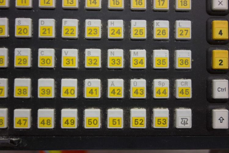 Full frame shot of yellow elevator