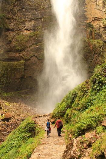 EyeEm Selects EyeEmNewHere Travel Tourism Landscape Vacations Nature Peru Waterfall Gocta Falls Love Girlfriend Boyfriend Trecking Treck An Eye For Travel Beauty In Nature