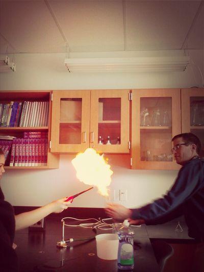 Set A Bubble On Fire