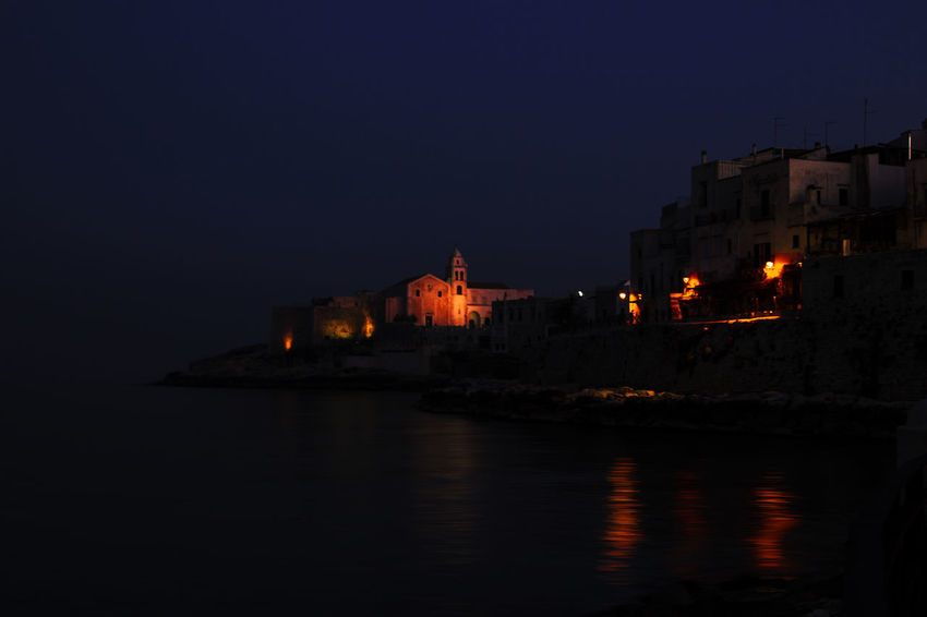 Night Puglia Italy Night Nightphotography Notte Mare Mare Notturno Reflection Night Outdoors Water Travel Destinations Sea Politics And Government No People Architecture Building Exterior Illuminated Beach Nautical Vessel Sky