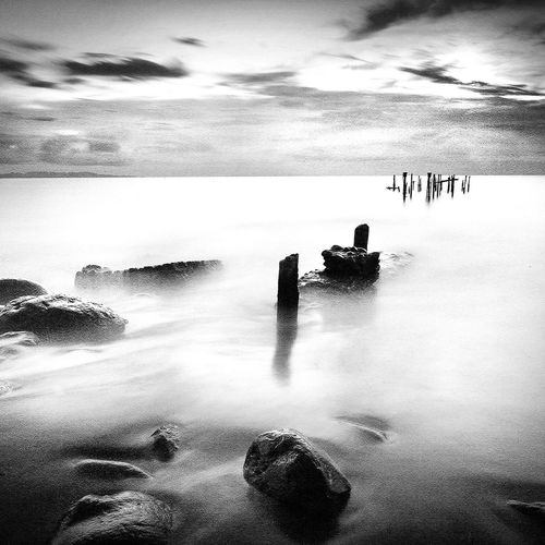 Ampenan Sea Water Outdoors Horizon Over Water Landscape_Collection EyeEm Gallery EyeEm Best Shots Black Background Blackandwhite Blackandwhite Photography