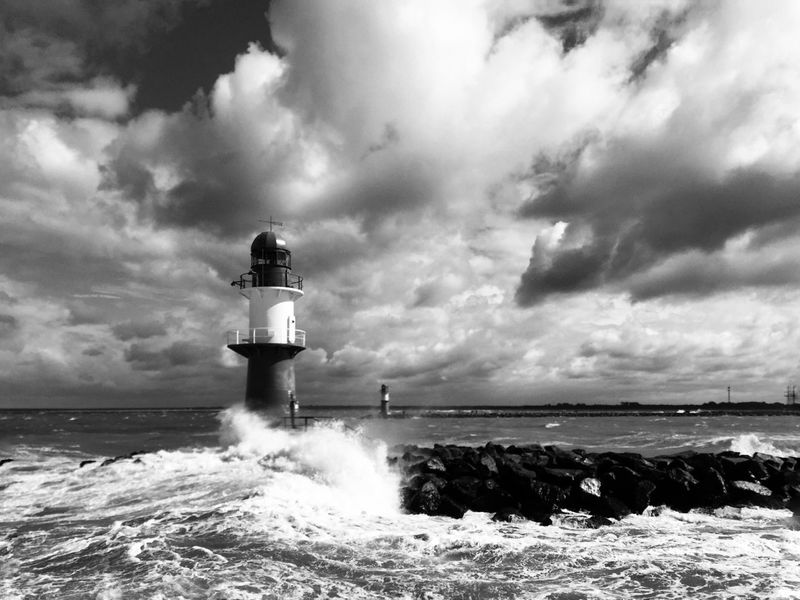 Lighthouse Germany Sea Sea And Sky First Eyeem Photo Monochrome Monochrome Photography Travel Destinations No People