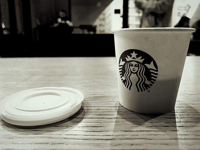 No People Close-up indoors Table afternoon break Doppio Espresso light Coffee Time Starbucks Bucharest Coffee Cup Coffee ☕ Coffee Shop