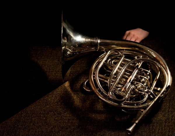 Brass French Horn Illuminated Music Musical Instrument Musician Pencil Waiting
