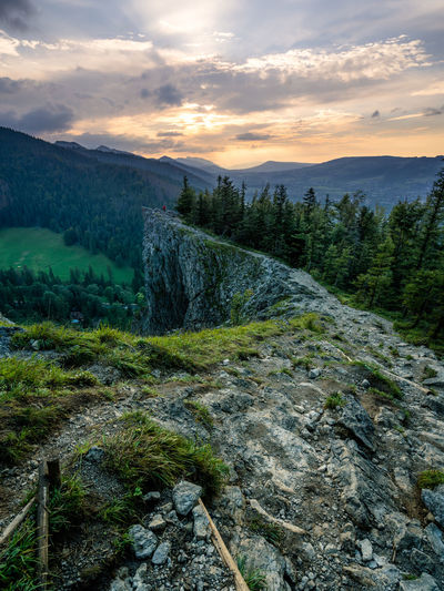 Landscape_Collection Travel Beauty In Nature Cloud - Sky Environment Flowing Water Hikingadventures Land Landscape Mountain Mountain Range No People Non-urban Scene Rock Rock - Object Scenics - Nature Solid Stream - Flowing Water Sunset Tranquility Travelmaniac