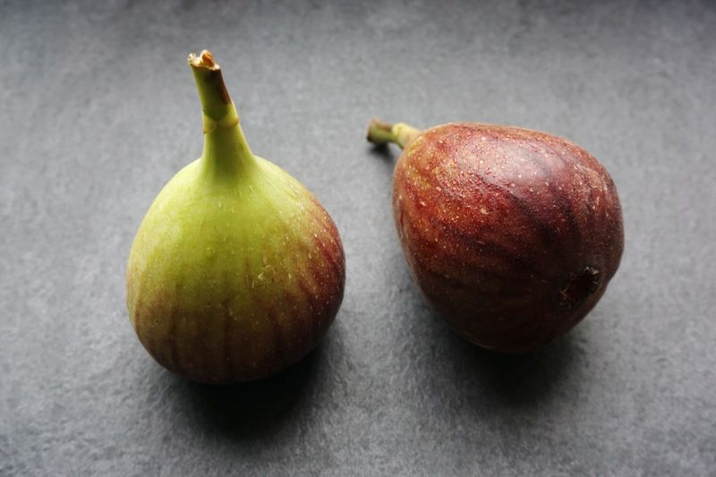 Figs ... Figs Fruits Fruit Close-up Focus On Foreground On The Table Freshness Fresh Healthy Eating Food And Drink Freshness Studio Shot Gray Background No People Indoors  Day