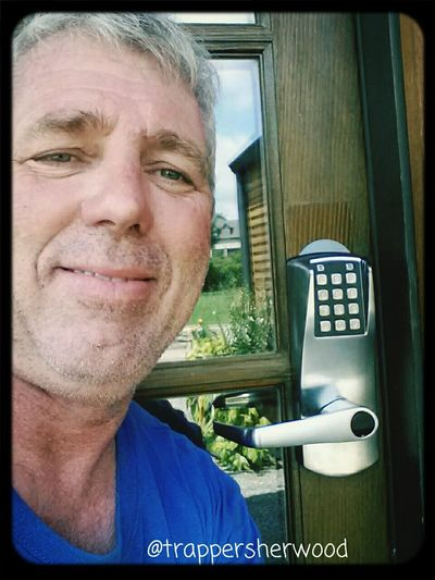 It's Business Time Awesome Locks Door Security New Eplex 2000 push button combination lock installed. No keys needed