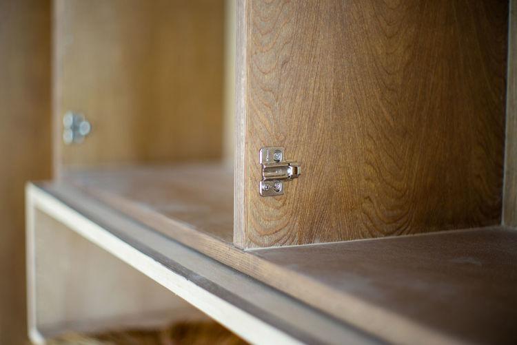 Close-up of shelf