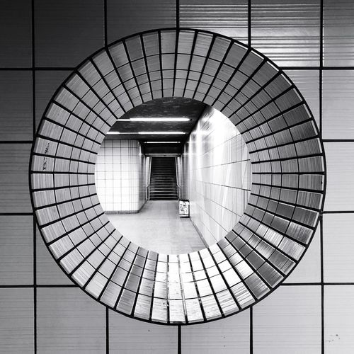 The quadrature of the circle. Urban Geometry The Qua Ruhrpott Bw_collection Bw Subway Station Architecture_collection Tiles Circle Geometric Shape