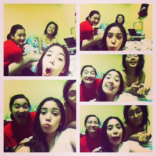 How we are in the wee hours of the morning :)) Dormmates Bacolodpeeps