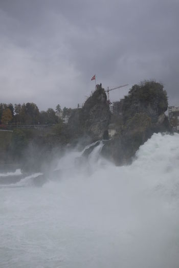 Cascade Current Erosion Outdoors Rheinfall River Water Waterfall
