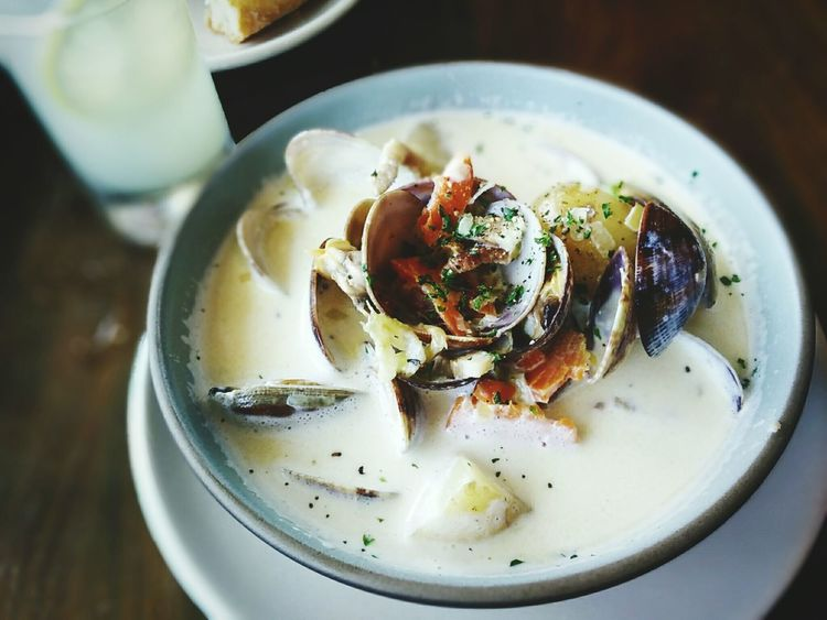 My World Of Food Yummy ♥ Clamchowder with Potato n Bacon! Sf Ferrybulding Food Stories
