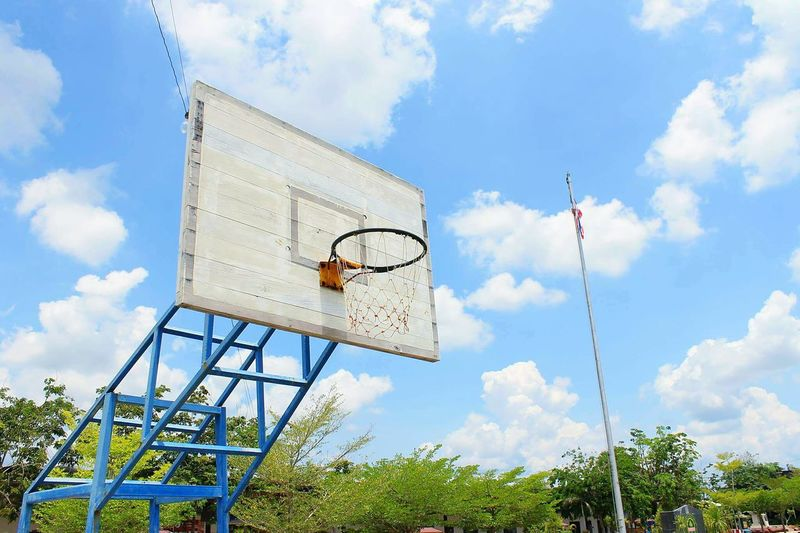 Amazing Thailand Cloud - Sky Sport Basketball Hoop Basketball - Sport Sky Day Low Angle View No People Tree Outdoors Black Background Mammal Steps And Staircases Nature Architecture Hand Rail