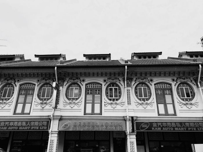 Singapore heritage houses Architecture Heritage Blackandwhite Light And Shadow Building Exterior Deceptively Simple Streetphotography Travel Eyeem Philippines