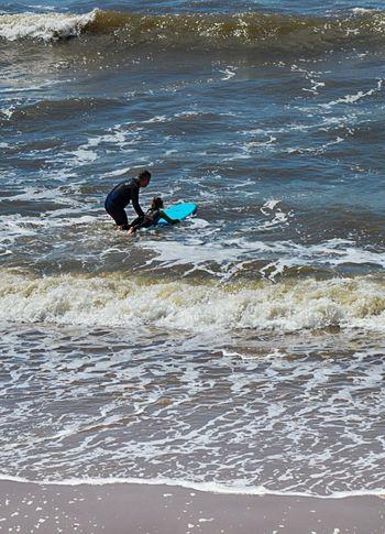 Little Surfer Girl Landscape Leisure Activity Nik Collection Nikon D3200 Sea Summer Surfing Water