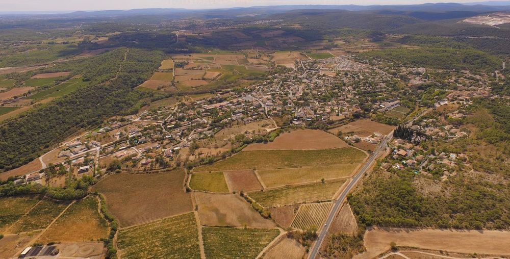 South Of France Matelles Village Drone  Landscape Environment Agriculture Rural Scene Land Scenics - Nature Aerial View
