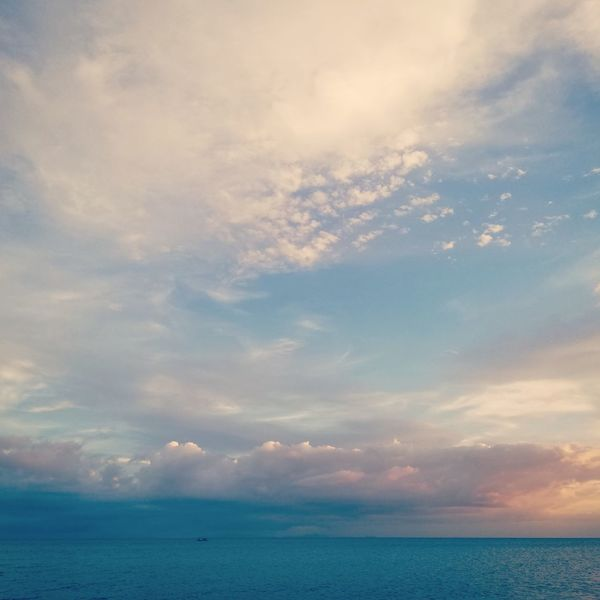 Where have the sea-sons gone? Laiya Nature Sky Tropical Philippines Blue Clouds Pink Water Sea Sunset Beach Horizon Blue Summer Backgrounds Pastel Colored