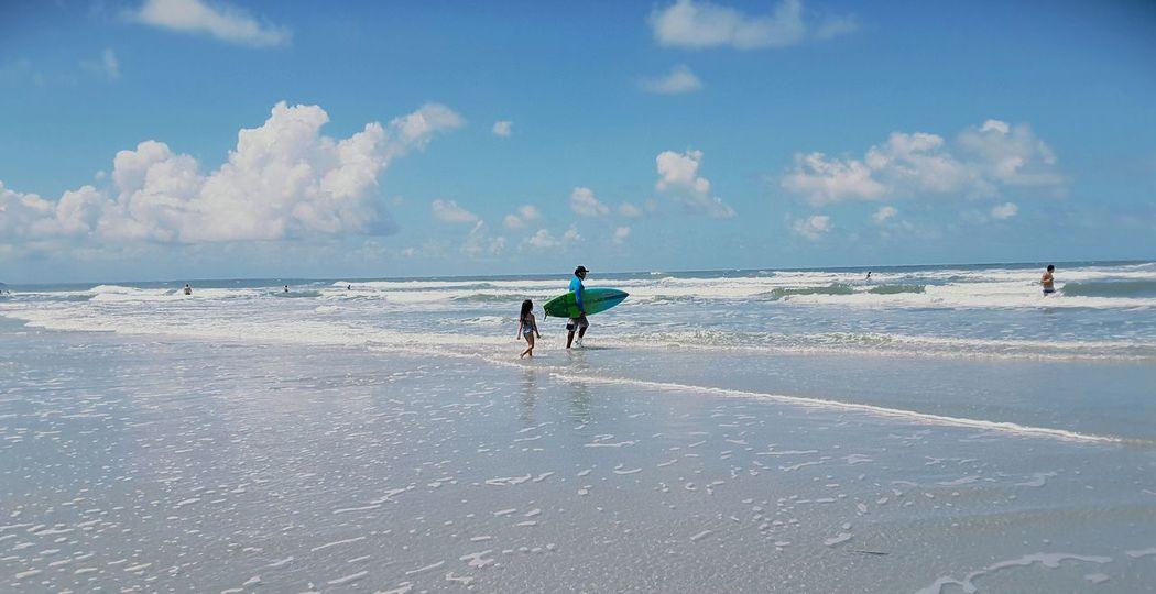 City of Salinópolis, Atalaia Beach, State of Pará, Amazon, Brazil. Beach Full Length Sea People Wave Blue Sky