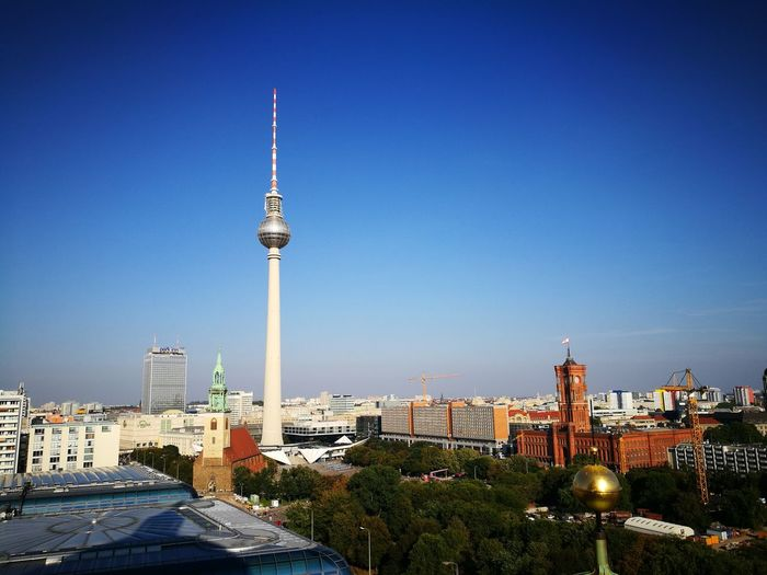 Berlin TV tower, view from the top of Berliner Dom