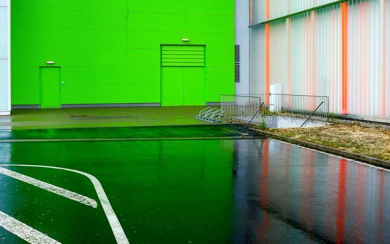 Streetphotography The Architect - 2015 EyeEm Awards Frankfurt Am Main Architecture Reflection Green Doors Urban Geometry Fujifilm X-E2