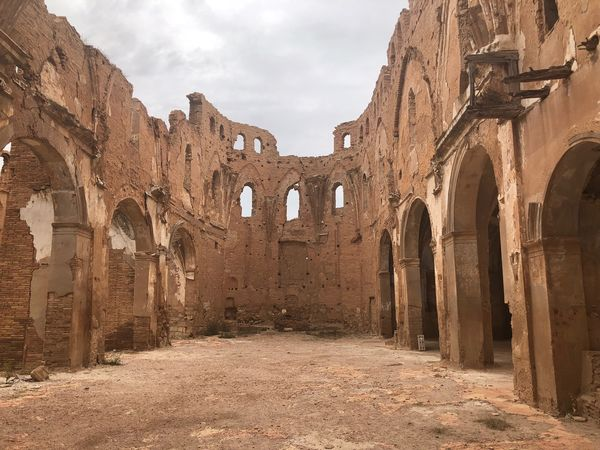 Belchite History Architecture The Past Built Structure Ancient Old Ruin Old Ancient Civilization Travel Destinations Damaged Bad Condition Run-down Abandoned Building Exterior Weathered Sky Day Travel No People Archaeology