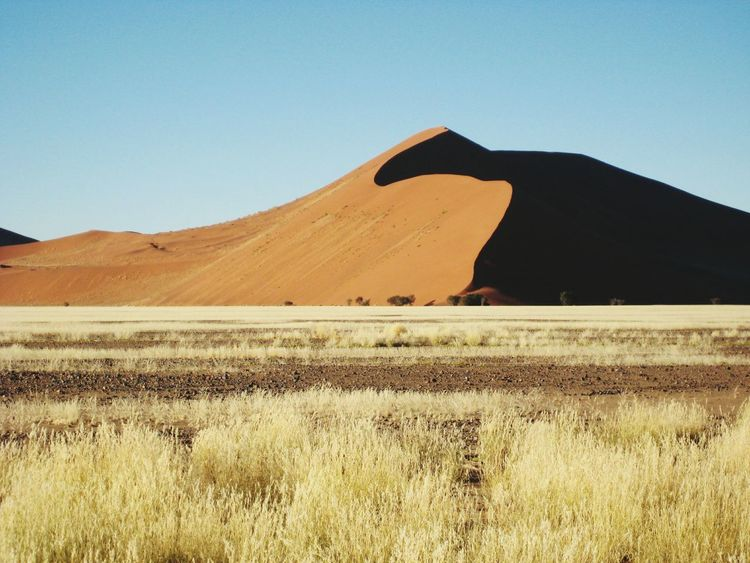Landscape Sand Dune Clear Sky Outdoors No People Beauty In Nature Sossuvlei, Namibia