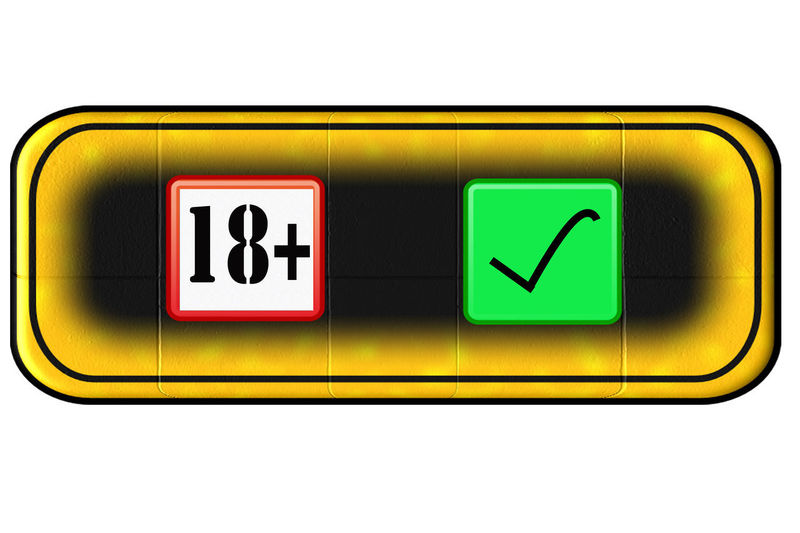 Web Button for age restriction with icon 18 years + Button Close-up Communication Day Green Color Guidance Icon Web Illuminated Indoors  No People PC Screen Text White Background Yellow