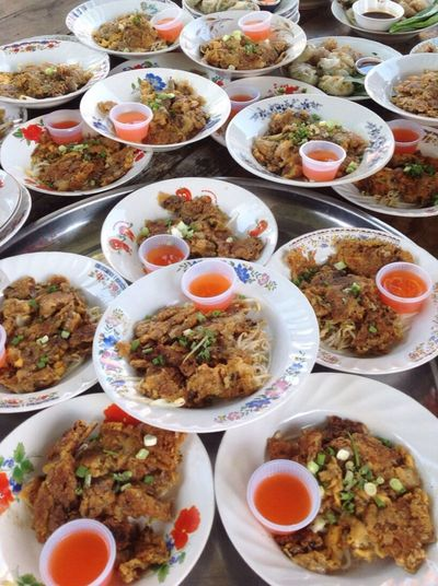 Thai Food Traditionalfood Pan Fried Mussels