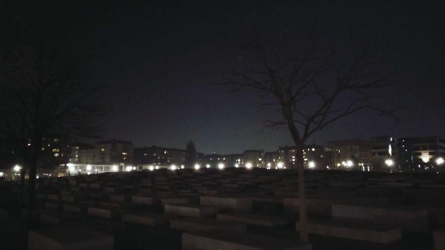 The Cemetery. · Berlin Germany 030 Memorial Holocaust Memorial Holocaust Landmark Rip Darkness Night Night Lights Night Photography