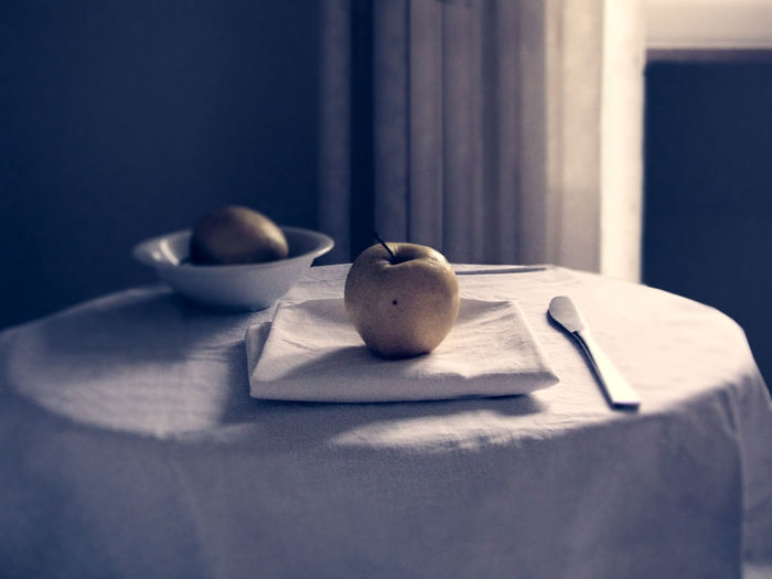 Apples Bottle Of Wine Close-up Food Food And Drink Fruit Glass - Material Indoors  No People Shadow Table