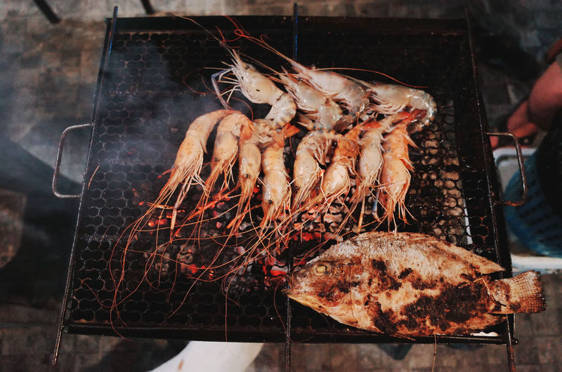 Food Food And Drink Freshness Meat One Person Barbecue Wellbeing Healthy Eating Real People Seafood Human Hand Preparation  Human Body Part Grilled Barbecue Grill Hand Preparing Food Holding Fish Outdoors Finger