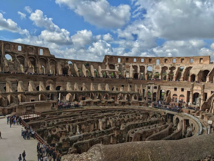 Got to witness what is left of the coliseum in Rome. History Amphitheater Roman Arched Roma Civilization Ancient History Ancient Rome War Memorial Ruined