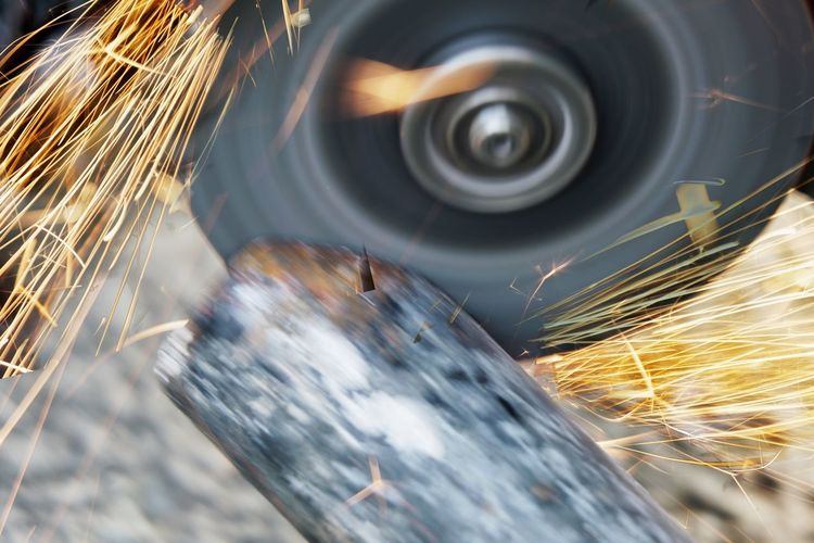 Blurred motion of spiral