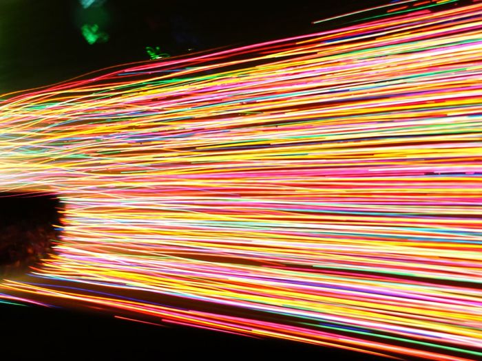Streaming Xmas lights shot from a moving car. Open Lens night Motion Multi Colored Abstract Illuminated No People The Week On Eyem EyeEm Best Shots EyeEm Gallery