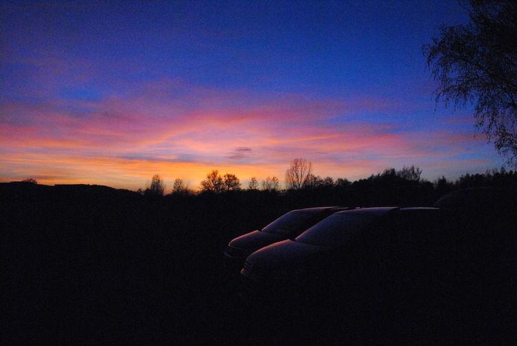 Beauty In Nature Cloud - Sky Dark Orange Color Outdoors Silhouette Sky Sunset