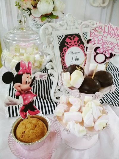 Bonbons Bonbonniere Miki Mouse Flower Birthday Party Birthday Candles Birtdhay🎂 Birtday Present Indoors  Table No People Variation Close-up Day