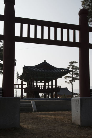 Hapgangjeong, Injegun, Gangwondo, South Korea Architecture Built Structure Clear Sky Day Gate Hapgangjeong Historic Place Jungangdan No People Outdoors Sky Tranquility Tree