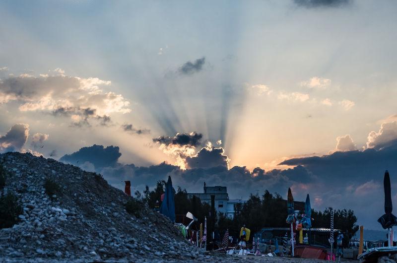 Panoramic view of sunset