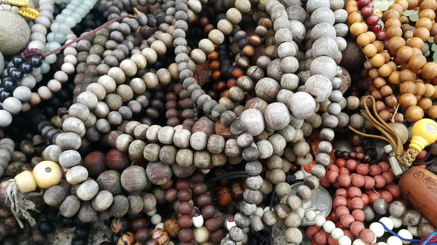 Wooden rosary or praying beads