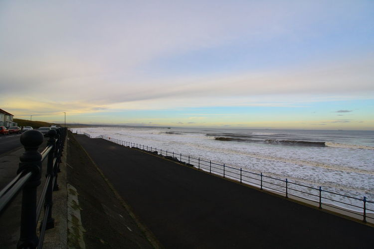 OUT AND ABOUT IN HARTLEPOOL Sky Sea Water Cloud - Sky Sunset Scenics - Nature Nature Beauty In Nature Land Railing Beach Horizon Horizon Over Water Transportation Tranquil Scene Outdoors Tranquility Motion Travel No People