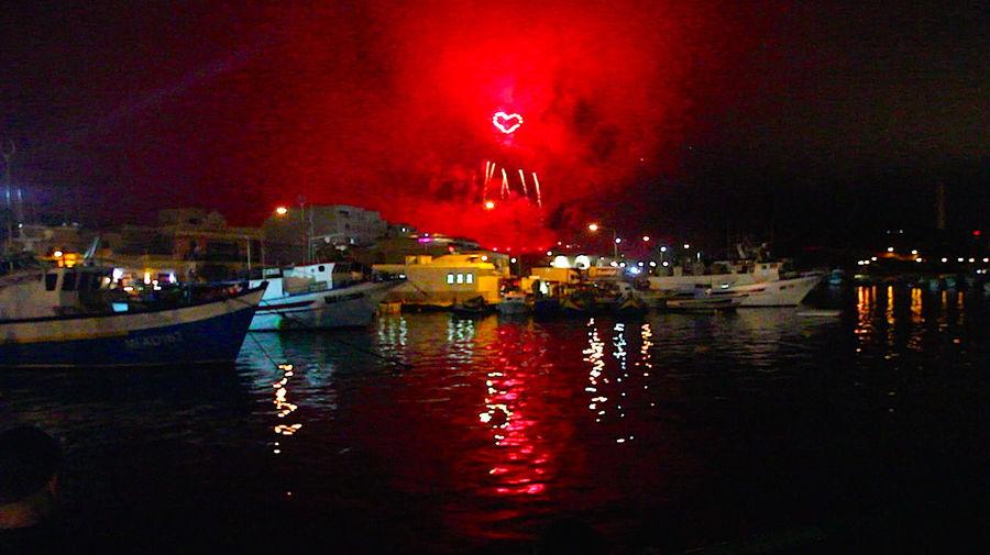 Firework Fireworks Hearts Illuminated Lighten Heart Night No People Reflection Sky Water Waterfront