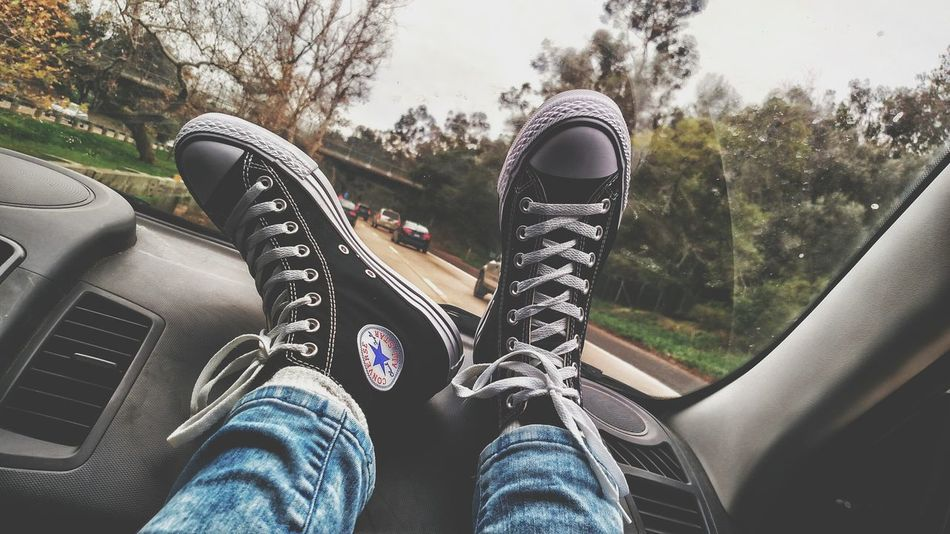Traveling Home For The Holidays Personal Perspective Shoe Converse Black Converse Passenger Breathing Space